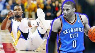 Russell Westbrook Breaks Kevin Durant Ankles! Russell Westbrook Drops Kevin Durant!