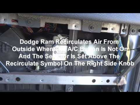2005 Dodge Ram A/C Recirculate Blend Door How To Repair Dash Removal