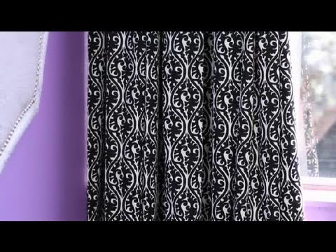 How to Decorate With Black & White Damask Curtains for an Office ...