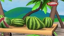 Watermelon Rhyme | Nursery Rhymes For Kids | Fruit Rhymes | Nursery Rhymes 3D Animation