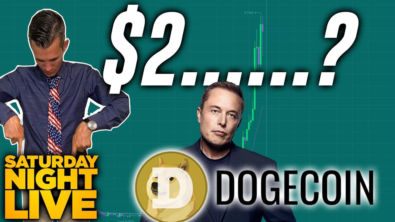 Can dogecoin go to $2 with Elon on SNL?