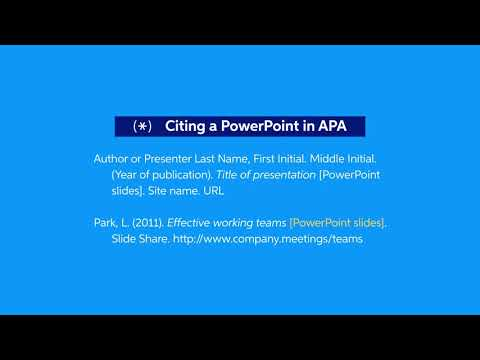 How to cite a powerpoint presentation in apa format random assignment in research