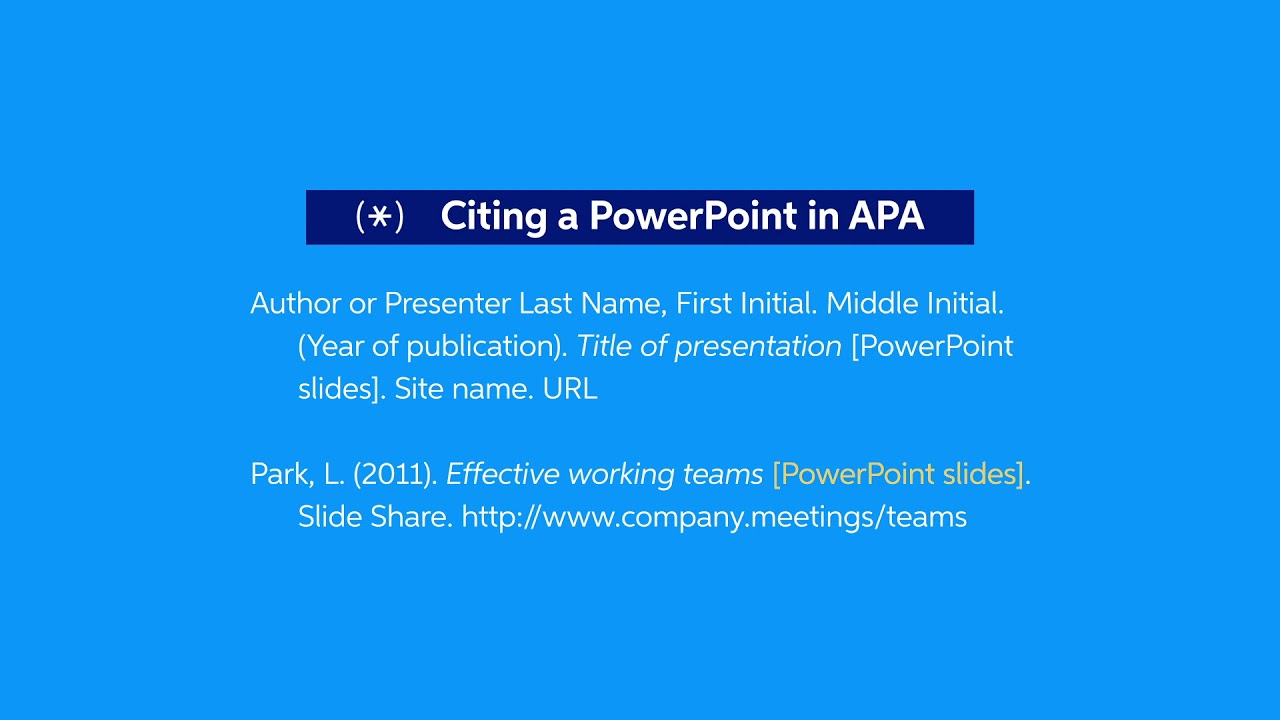 How to Cite a PowerPoint Presentation in APA, MLA or Chicago  EasyBib
