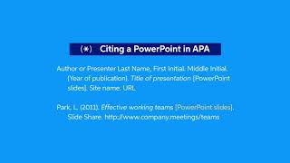 How to cite a powerpoint presentation in apa format resume examples for bank supervisor