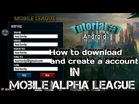 How to Download, Create a account and Play in the Mobile alpha League  ANDROID |ALLEN TV| TUTORIAL#1