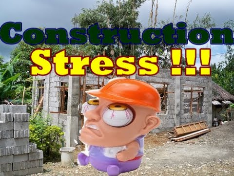 House Construction Stress -Construction of a house in the Philippines