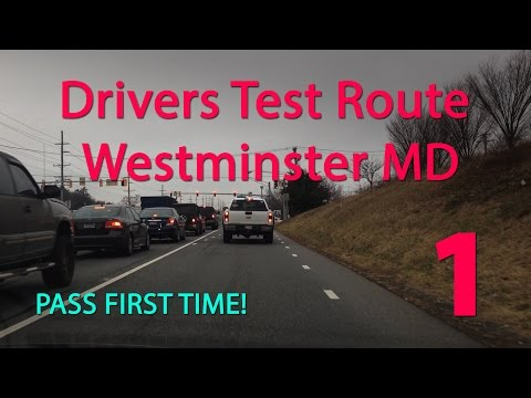 Westminster Maryland MVA Driving Test Route