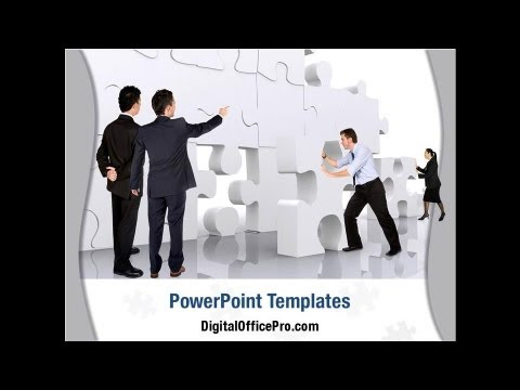 Team Building Puzzle Powerpoint Template Backgrounds