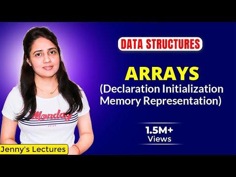 Arrays in Data Structure | Declaration, Initialization, Memory representation