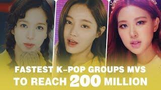 [TOP 29] FASTEST KPOP GROUPS VIDEOS TO REACH 200M VIEWS • August 2018
