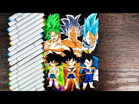 Drawing Goku, Vegeta and Broly - Dragon Ball Super: Broly Special