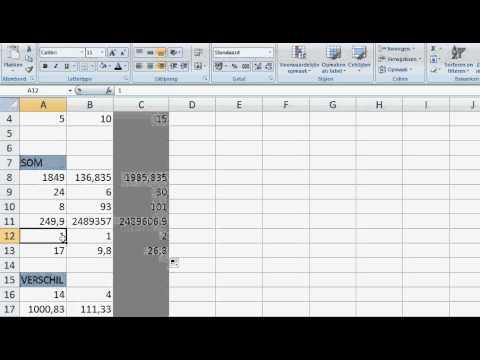 Basisbeginselen van fomulegebruik in Excel