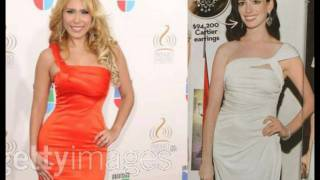 Anne Hataway Same Dress as Singer Jimena