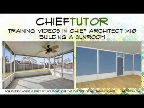 Building a Sunroom in Chief Architect X10