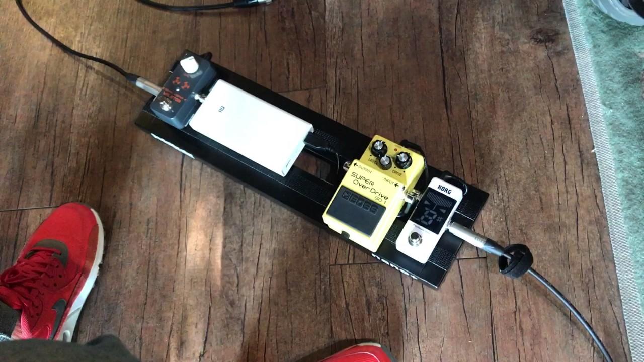 boss sd 1 korg pedal tuner valetone looper acoustic pedalboard test youtube. Black Bedroom Furniture Sets. Home Design Ideas