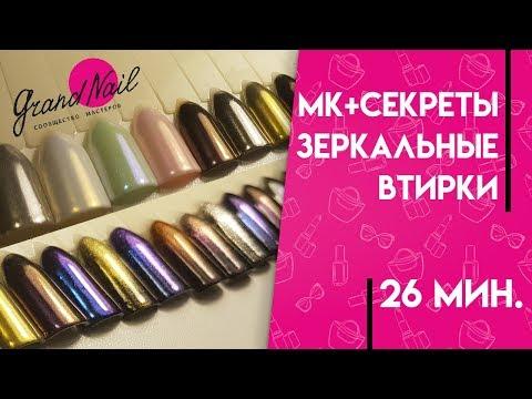 Втирка для ногтей зеркальный блеск nail art