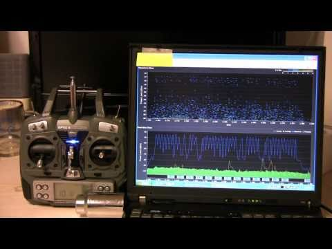 2.4 GHz RC Radio Spectrum Analysis with a PC Laptop