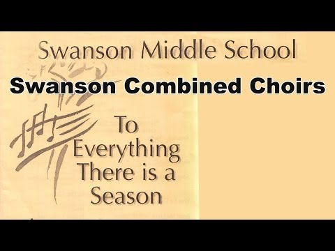 """2014 Swanson Middle School Chorus Concert - """"Here's Where I Stand"""""""