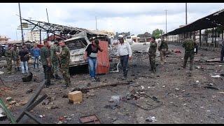 شاهد... تفجيرات في مدينة جبلة بريف اللاذقية توقع العشرات من ميليشيا الدفاع الوطني بين قتيل وجريح