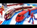 Thomas turned into villain! Go! Marvel Avengers Spier Man, Iron Man train transform! - DuDuPopTOY