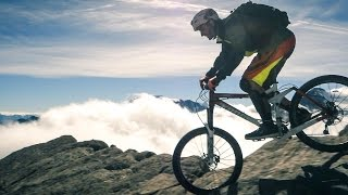 Enduro mountain biking in Swiss Alps, Mont Avril 3347m