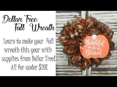 Easy DIY Dollar Tree Fall Wreath