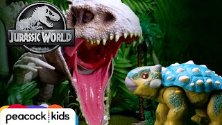 Bumpy Survives Indominus Rex Fight! | JURASSIC WORLD CAMP CRETACEOUS