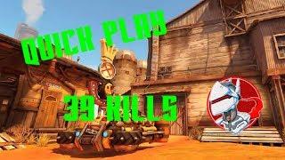 """Genji Quick Play in Junkertown"" | Overwatch PS4 gameplay #1"