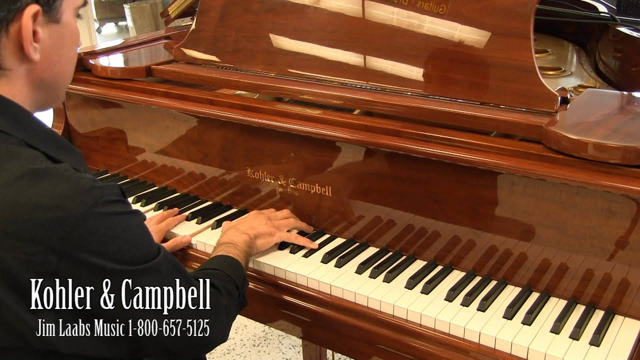 Kohler & Campbell Grand Piano - On Sale $4,285 - YouTube