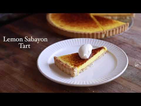 Lemon Sabayon Tart