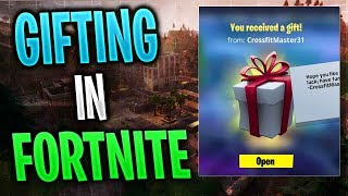 The new Gifting SYSTEM in Fortnite! -Santa Claus comes with a LEGENDARY Skin?
