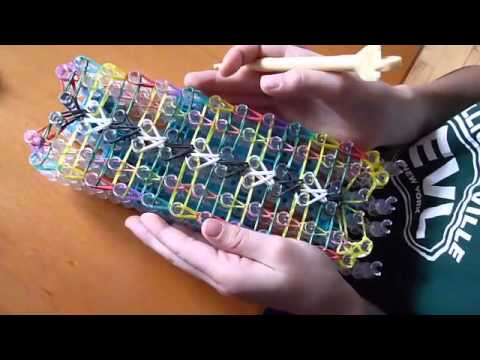How to Make a Double Fishtail Ladder Rainbow Loom Bracelet ...