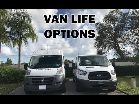 Van Life Options Dodge ProMaster VS Ford Transit