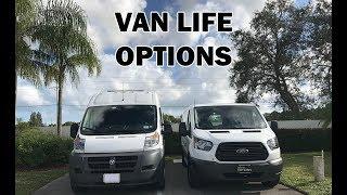 Van Life Options Dodge ProMaster VS Ford Transit