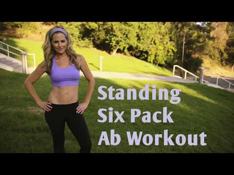8 Minute Standing Six Pack Ab Workout—-No mat workout for a strong core and flat tummy