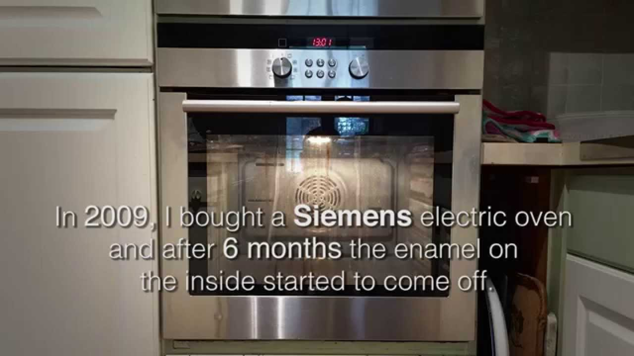My Siemens/Bosch electric oven experience - YouTube