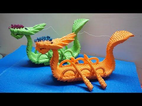 3D Origami Dragon Boat Tutorial | DIY Paper Dragon Boat Home Decor