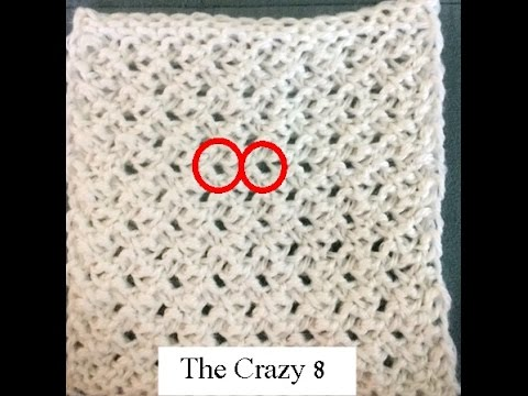 The Crazy 8 Lace - Loom Knitting Stitch