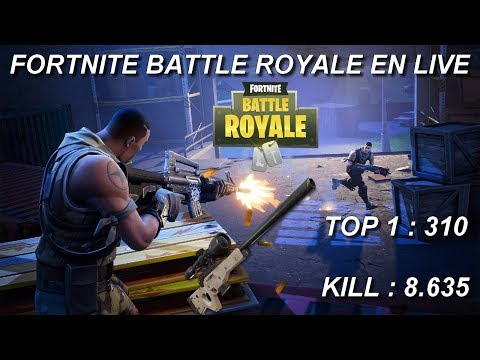 [FR/PC/LIVE] Fortnite  en  solo  / lvl 100 ! / 310 wins / 8.635 kill