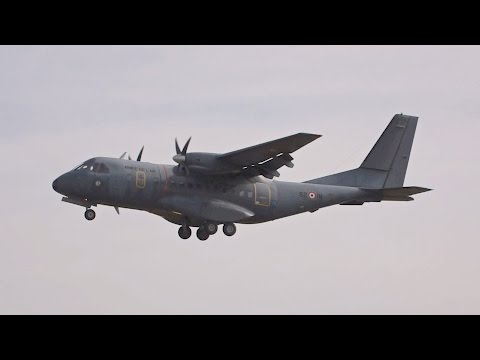 CASA IPTN CN-235M-200 French Air Force arrival at RIAT 2016 AirShow