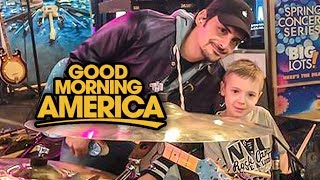 """Good Morning America"" Brad Paisley & Avery, 6 year old Drummer"