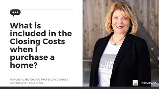 Closing costs - What is included in the closings costs when I purchase a home?