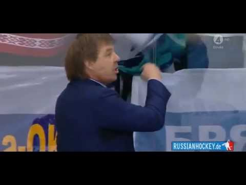 Главный тренер сборной России Олег Знарок пропустит финальный матч ЧМ-2014 из-за неприличного жеста