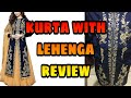Embroidered kurta lehenga only for 749₹/Amazon kurta lehenga review