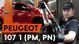 Instalação Amortecedores dianteiro PEUGEOT 107: vídeo manual