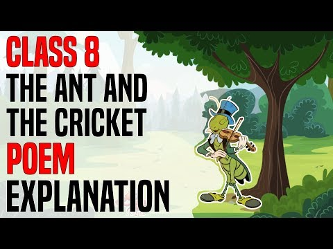 The Ant And The Cricket | Class 8 | English Honeydew | Complete Poem Explanation