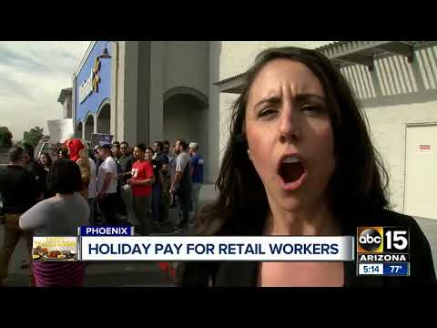 Walmart employees demand holiday pay