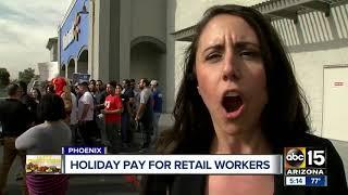 Walmart employees demand holiday pay