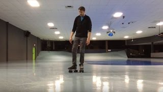How to Stop on Roller Skates Without Using Toe Stops   Roller Skating Tutorial