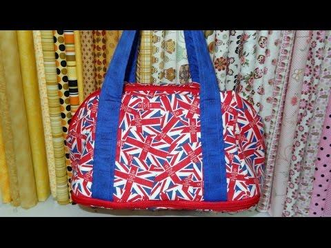 Bolsa de tecido Plus. DIY. Fabric bag. Make a fabric bag. A fabric bag video tutorial. Bags